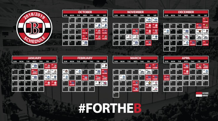 2018-19 Schedule Desktop Wallpaper